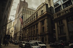 LaSalle St. (Migltellez) Tags: a6000 sony sonyalpha historic midwest traffic people dark view tallbuildings cars city exploring urban streetphotography street chicago