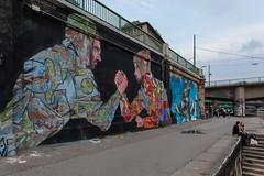 Donaukanal (Gary Kinsman) Tags: 2nddistrict leopoldstadt canon5dmkii canoneos5dmarkii canon1740mmf4l vienna austria wien sterreich 2nd donaukanal danubecanal 2014 graffiti streetart