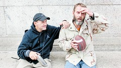 Bobby and John (our right) (brooksbos) Tags: brooksbos brooks friendship friend people portrait zr1500 casio homeless homelessness geotagged love