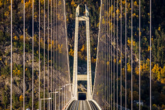 Hardanger Bridge, Hardangerbrua. Vallavik, Norway (Paulius Bruzdeilynas) Tags: norway norge norwegian hardanger hardangerbridge hardangerbrua autumn suspensionbridge color trip roadtrip travel traveling road nature mountain rock architecture sony sonyalpha sonya7ii