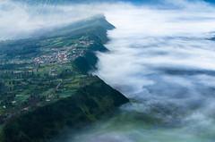 At The Edge of World (Jrenggo) Tags: bromo fog crater cliff landscape nikon nikonflickraward mountain