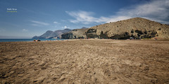 (351/16) Playa de Mnsul I (Pablo Arias) Tags: pabloarias photoshop nxd cielo nubes texturas playa arena mar agua mediterrneo formacionesrocosasdelava mnsul parquenaturaldelcabodegata sanjos almera comunidaddeandaluca
