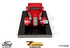 Ford 1933 Custom V8 Coupe - ZZ Top Eliminator (lego911) Tags: ford 1933 1930s classic v8 coupe zz top eliminator custom kustom usa america auto car moc model miniland lego 911 ldd render cad povray lugnuts challenge 109 deuceswild deuces wild lego911 music band mtv video