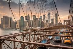 New York - Brooklyn bridge (hjuengst) Tags: newyork brooklynbridge manhattan cars lines
