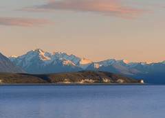 Lake Tekapo at golden hour (PsJeremy) Tags: new zealand laketekapo kiwiland snow peak blue depthoffield scenic