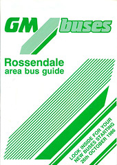 GM Buses Rossendale Area Bus Guide 26101986 Front Cover (Rossendalian2013) Tags: bus deregulation rossendale lancashirecountycouncil tendered gmbuses timetable booklet