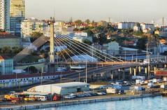 Lisbon - 21 (orciel95) Tags: panasonic lumix dmc tz100 lisbon lisboa lisbonne ville town port harbor bateau sea water architecture vhicule pont bridge
