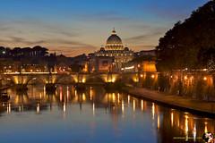 SanPietro da ponte Umberto I (Vin Gentile) Tags: roma san pietro cupola tevere ponte umberto i tramontodaltevere