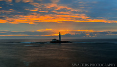 St Mary's Lighthouse (sidrog28) Tags: lighthouse early sky sea north uk rocks autumn water newcastle nikon d3200 shore