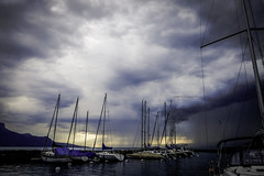 days of thunder (mamuangsuk) Tags: daysofthunder storm thunderstorm overcasted cloudscape dramaticskies lacleman lakegeneva sailboats threatening darkclouds portdelatourdepeilz rivieravaudoise orageux gloomyday mamuangsuk