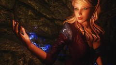 TESV - Coursing Power (tend2it) Tags: kenb elder scrolls skyrim v rpg game pc ps3 xbox screenshot sweetfx enb krista demonica race sg lilith 161 felicia arcane mage magic magik cast caster spell green eyes blond hair mods blue coursing power