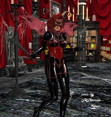 Amanda @ Velvet Thorn Halloween Party 5 (Amanda Keen) Tags: second life velvet thorn bdsm femdom female superiority erotic roleplay