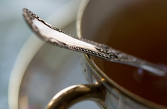 Morning Tea (Captured Heart) Tags: tea teacup silverspoon chinacup bonechina dailyroutine macromondays mydailyroutine