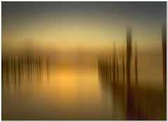 Derwent sunset (Hugh Stanton) Tags: pier groins mist glow evening sunset