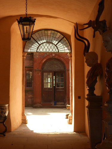 Powis Casgtle. Original entrance passage.