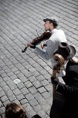 greyTunes (megorgar) Tags: band busking street performance strasenmusik trio grey grau cobblestone kopfsteinpflaster prag prague violine violin nikon d700 nikkor 85mm f18g nikcollection colorefexpro4 idontknowthebandsname dennamenderbandkenneichnicht