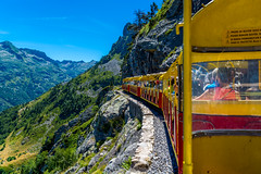 El tren de artouste (.MiguelPU) Tags: el tren de artouste montaa valle azul cielo naturaleza france francia train
