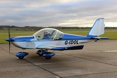 G-IDOL Aerotechnik EV-97 Eurostar (R.K.C. Photography) Tags: gidol aerotechnik ev97 eurostar aircraft duxford cambridgeshire iwm uk england unitedkingdom canoneos100d