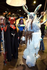 Cosplay at Rhode Island Comic Con 2016 (FranMoff) Tags: rhodeislandcomiccon costume white flickr cosplay red horns ice darkness legend demon cosplayer 2016 coolblue iceblue ricc