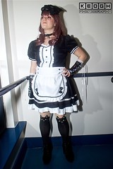 IMG_6951 (Neil Keogh Photography) Tags: apron black blouse cosplay cosplayer dokidokifestivalmanchester2016 dress female frenchmaid gloves highheels japanesemaid maidcafe mask skirt stocking sweetlolita tights white
