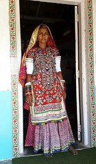 In the doorway (bag_lady) Tags: harijan mahwara muslim sindh bhuj gujarat kutch india doorway tribal explore