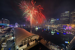 Darling Harbour Fireworks Display (kenneth chin) Tags: docksidepavilion reflection bay darlingharbour nikon d810 nikkor 1424f28g fireworks sydney australia nsw city attraction yahoo google