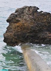 BigTideOverTheWall (mcshots) Tags: usa california socal losangelescounty pch coast beach wall rocks tides autumn ocean swells sea water nature travel stock mcshots