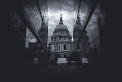 Man Go Forth (Skuggzi) Tags: baroque architecture bw blackandwhite britain british building christianity church cityoflondon clouds cultural culture dome dramatic england heritage historic history iconic juxtaposition landmark london monochrome oldandnew outdoor reflection religion uk unitedkingdom
