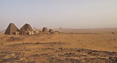 Meroe Archaeological Site VI - 40373 (opaxir) Tags: archaeology pyramid sudan nubia kush meroe meroitic