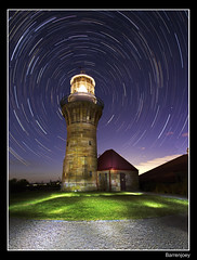 Star Trails @ Barrenjoey (ozarun55) Tags: lighthouse night sydney australia startrails barrenjoey