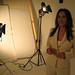 Lucila Pinto gravando vídeo institucional