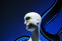 self distortion (marie helene drouin) Tags: nottingham blue eye shop model lashes diagonal zara