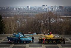 Technicolor Tanks (Pete Woodhead) Tags: painted military ukraine soviet kiev kyiv relics weapons tanks pechersklavra atrefacts eternalglorypark