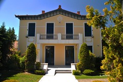 old mansion in Kifissia (g_athens [swaping]) Tags: old blue trees sky house mansion buiding  kifissia