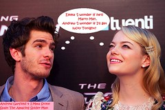andrew garfield and emma stone 2012-06-22 cuddle up on carpet in Spain Movie premiere (Jaclyn Diva) Tags: celebrity emmastone spidermanmovie andrewgarfield theamazingspiderman jaclyndiva celebrityromance