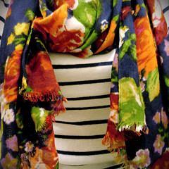 112/365 Florals on stripes (shoopshoopshoop) Tags: floral scarf square colours stripes clothes colourful day112 project365 day112365 april2013 project3652013 3652013 365the2013edition projectlife365 22apr13