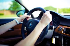Hands On The Wheel (DavioTheOne) Tags: car driving steering bokeh bmw steeringwheel