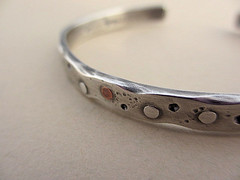 Sterling silver Riveted cuff (AdobeSol) Tags: bracelet metalwork cuff sterlingsilver handmadejewelry riveted etsymetalteam adobesol adobesoldesigns