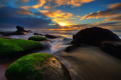 Ona Beach Sunset Feb16-46 (ZLBlackwood) Tags: sunset beach oregon coast rocks february onabeach