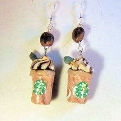 Polymer Clay Starbucks Frappucino earrings (FantasyClay) Tags: earring jewelry polymerclay starbucks