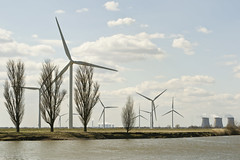 (ryan.worthington) Tags: trees cloud water clouds river landscape photography landscapes photo nikon industrial photographer image yorkshire disguise environment ouse powerstation environmentalist windturbine windfarm drax goole interrupted riverouse selby environmentalawareness industrialstructures ryanworthington d3100 interruptedlandscapes