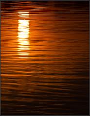 sunset on the Schuykill (kimbenson45) Tags: light sunset orange water ripples settingsun