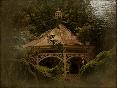 In another lifetime (MissyPenny) Tags: usa vintage garden outdoors pennsylvania gazebo hidden digitalediting lahaska southeasternpa lahaskapennsylvania oilpaintingtechnique kodakz990 pdlaich missypenny