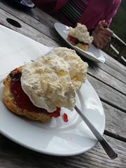 Too Much Cream ? (Tina-Pina) Tags: perthshire cream scone jam glenlyon