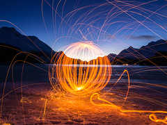 Lightpainting (papinifoto) Tags: winter lightpainting schweiz eis engadin klte silssersee