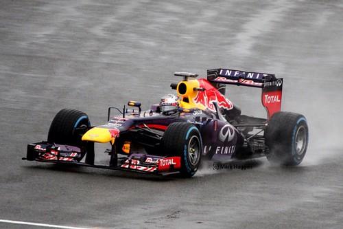 Sebastian Vettel in FP1 at the 2013 British Grand Prix