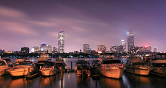 Boston, MA (pinkpixel (Slava)) Tags: city longexposure travel cambridge sky usa reflection water boston skyline architecture night clouds skyscraper ma boats dawn lights movement lowlight massachusetts charlesriver towers le citylights nightsky slava citylight bostonist nightpanorama top20flickrskylines canon5dmarkii svetoslavaslavova yahoo:yourpictures=reflectionsv2 yahoo:yourpictures=motion