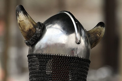 Classic Tourist Viking Helmet (Med Gull) Tags: cruise sweden baltic gotland viking visby zegrahm
