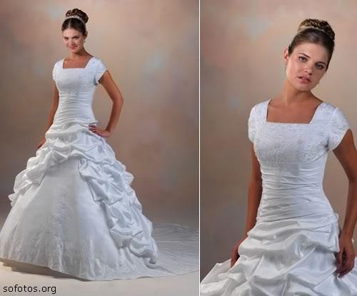 Vestido de noivas com manguinha