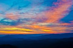 Wesser Sunset (Bradley Nash Burgess) Tags: sunset mountain mountains evening nc nikon dusk hiking northcarolina hike trail nantahala firetower appalachiantrail westernnc westernnorthcarolina appalachain nantahalagorge wesser at wesserbald d7000 nikond7000